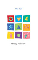 Happyholidays25 Greeting Card (55x85)